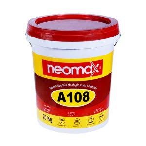 Neomax A108là hợp chất chông thấm, một thành phần, dạng lỏng, màu ghi xám, 100% acrylic