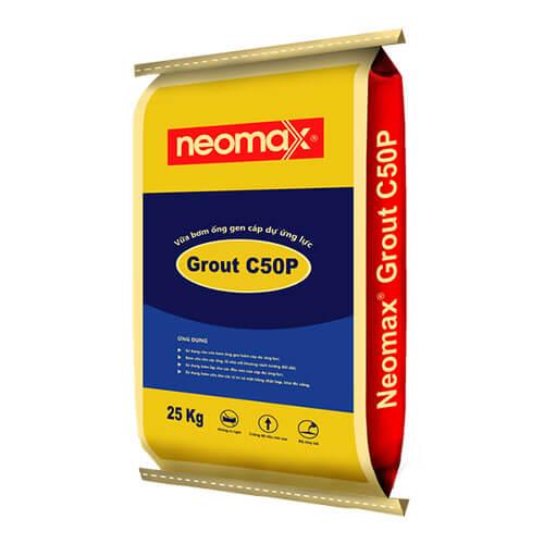 Neomax Grout C50P là loại vữa bơm không co ngót, cường độ cao, gốc xi măng, độ chảy tối ưu và có thể bơm được.