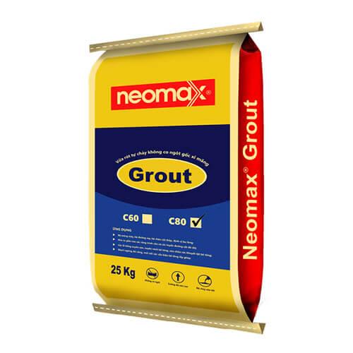 Neomax Grout C80 là loại vữa rót trộn sẵn gốc xi măng, có khả năng tự chảy, tự san bằng, không co ngót và cường độ chịu nén rất cao.