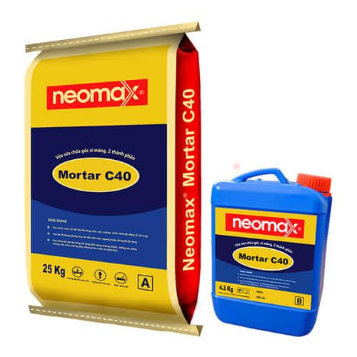 Neomax Mortar C40 là vữa sửa chữa, trám vá bê tông, 2 thành phần.
