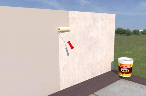 Quy trình thi công chống thấm tường ngoài, nhà vệ sinh bằng Neomax A108