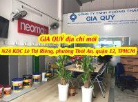Cập nhật địa chỉ mới nhất của công ty Chống Thấm GIA QUÝ