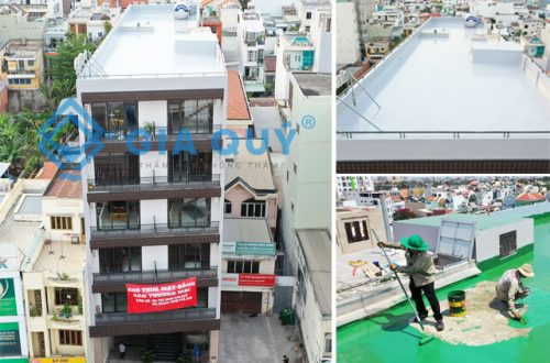 Chống thấm sân thượng tòa nhà Điện Biên Phủ