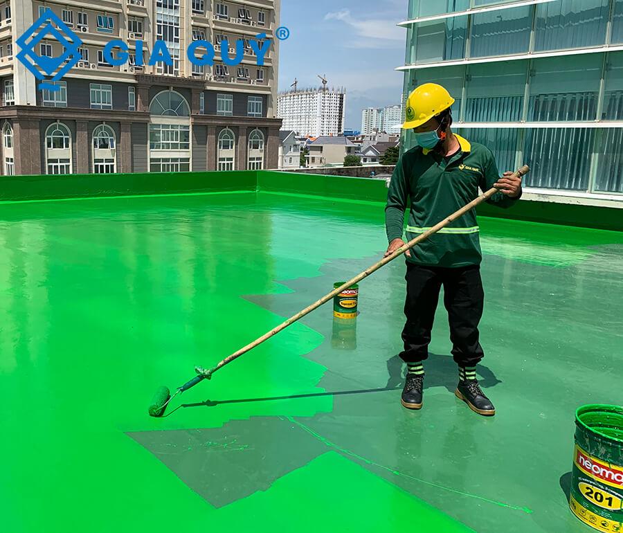 Quy trình thi công chống thấm sàn sân thượng