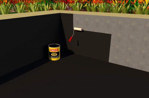 Quy trình thi công chống thấm bể cá Koi, bể tiểu cảnh bằng Neomax 826