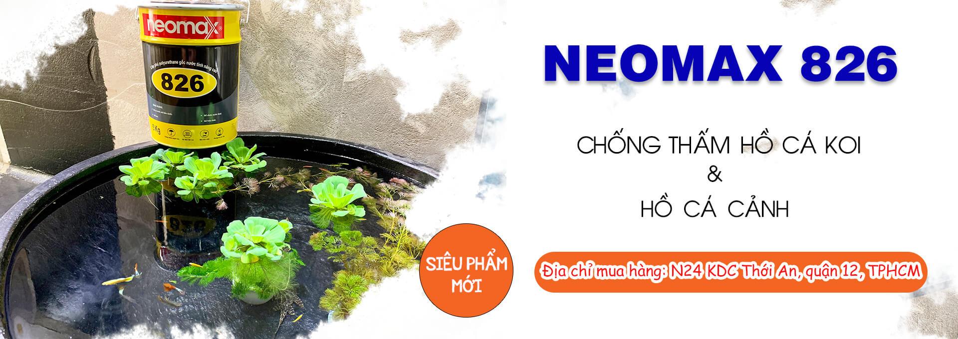 Chống thấm bể cá cảnh với neomax 826