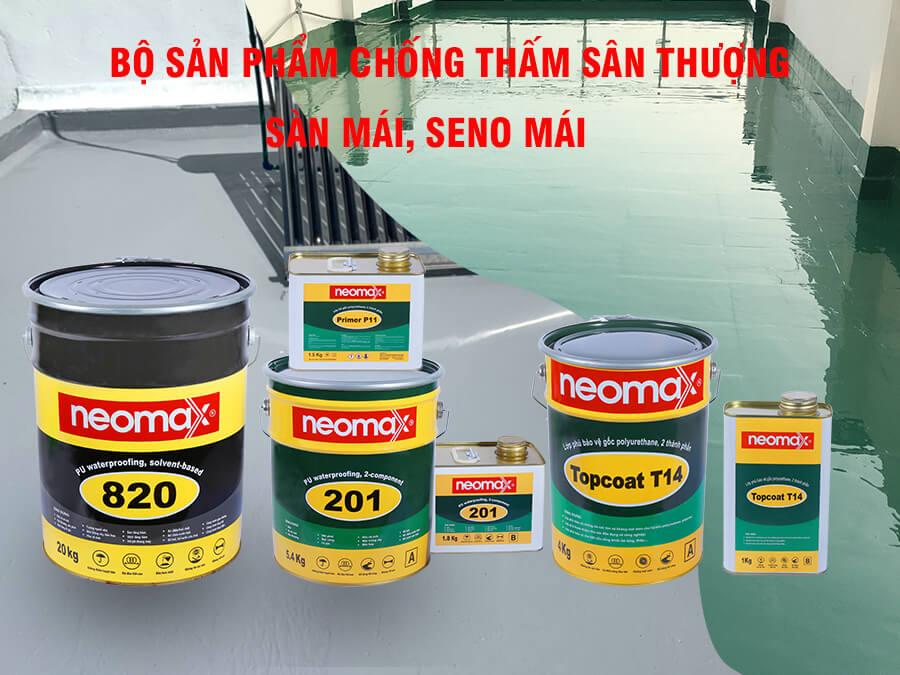 Bộ sản phẩm chuyên chống thấm sàn sân thượng, sàn mái