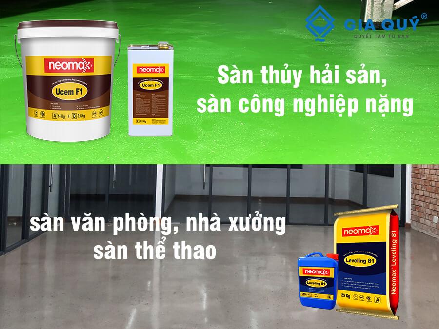 Vật liệu chuyên chống thấm sàn công nghiệp, nhà xưởng