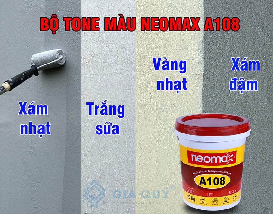 Bộ tone màu sơn chống thấm tường neomax A108